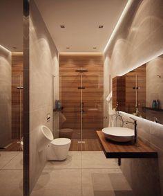 Apartment Interior in LCD Grand Park, Architectural Bureau of Alexandra Fedorova Teak Bathroom, Bathroom Renos, Budget Bathroom, Small Bathroom, Bathroom Ideas, Bathroom Layout, Modern Bathroom Design, Bathroom Interior Design, Modern Bathrooms