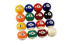 Mike Massey Billiards Basic Billiard Balls by Mike Massey Billiards. $29.99. Amazon.com                The Mike Massey Billiards Resin Billiard Balls Set is a complete set of 16 two-inch balls. The balls are constructed of high quality hard resin and are a great choice for any pool room.                                    Product Description                Complete set of sixteen 2 1/4 inch  High quality hard resin Billiard Balls