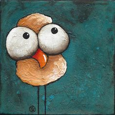 Whimsical Bird Painting - The Yellow Bird by Lucia Stewart Ladybug E Catnoir, Painted Rocks Craft, Rock Painting Ideas Easy, Pink Dog, Rock Crafts, Chalk Art, Whimsical Art, Rock Art, Pet Birds