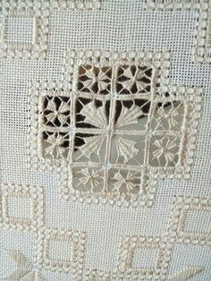 aafje hartlief's media content and analytics Hand Embroidery Designs, Embroidery Patterns, Cross Stitch Patterns, Hardanger Embroidery, Embroidery Stitches, Cross Stitches, Drawn Thread, Boho Wall Hanging, Point Lace