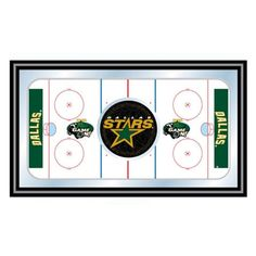 Trademark Global NHL Dallas Stars Framed Hockey Rink Mirror - NHL1500-DS