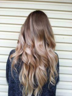 Love that sandy blonde color. Not as drastic as bleach blonde.