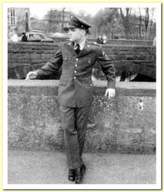 One Day In Bad Nauheim – March 1959 | Elvis - Echoes Of The Past | LOCATION NUMBER # 4, - pic # 1  Elvis on the first of two bridges he posed on that day. Photographer Cravens? http://articles.latimes.com/1986-08-17/magazine/tm-16511_1_elvis-presley