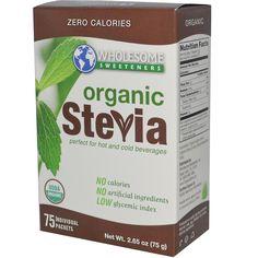 Wholesome Sweeteners, Inc., Organic Stevia, All-Natural Sweetener, 75 Individual Packets, 1 g Each - iHerb.com. Bruk gjerne rabattkoden min (CEC956) hvis du vil handle på iHerb for første gang. Da får du $5 i rabatt på din første ordre (eller $10 om du handler for over $40), og jeg blir kjempeglad, siden jeg får poeng som jeg kan handle for på iHerb. :-)