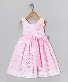 Take a look at this White Eyelet Dress - Girls by Plum Pudding on today! Little Dresses, Little Girl Dresses, Cute Dresses, Girls Dresses, Toddler Dress, Baby Dress, Fashion Kids, Girl Fashion, White Eyelet Dress