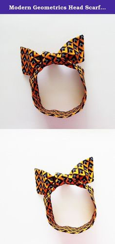 Modern Geometrics Head Scarf / ME2Designs Handmade Multipurpose Cotton Scarf - Tie - Adornment. This handmade reversible modern geometrics head scarf has versatile uses! Tie it on your head with the bow at the top of your head (rockabilly style), on the side, or tie it at your neck. You can also pop the scarf around your neck for a skinny neck scarf addition to your outfit. Another use is to tie the scarf around the handle of your handbag or tote, or on a walker for adornment (and...