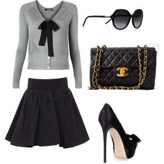 Super cute! I would add tights and nix the purse, I'm not big on Chanel (I know shocking but I'm not)