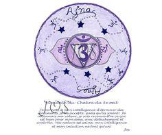 Energie Positive, Third Eye Chakra, Reiki, Affirmations, Meditation, Mandala, Therapy, Inspirational Quotes, Visualisation