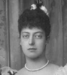 Bridesmaid HRH Princess Victoria (of Wales) (1868-1935). Wedding of brother George and May of Teck, 1893.