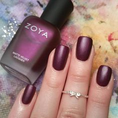 """Iris by Zoya Nail Polish from the 2015 Winter Collection with a matte top coat by Lancome."