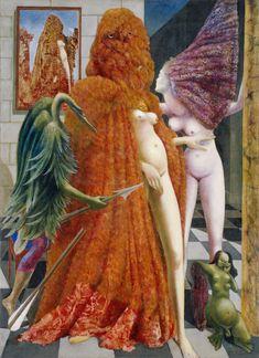 Attirement of the Bride (La Toilette de la mariée) (L'habillement de l'épousée (de la mariée) by Max Ernst, 1940.