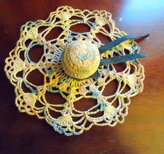 Vintage Crochet Hat Pin Cushion by PheasantRunAntiques on Etsy