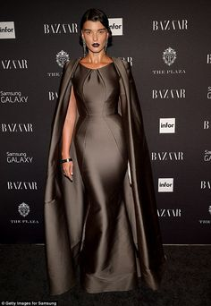 Crystal Renn looks straight out of science-fiction film in gown #dailymail