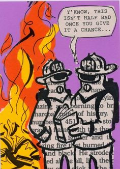 Dale Martin's entry for Banned Books Week Trading Card Contest Banned/Challenged Book: Fahrenheit 451 Reason for Banning: Contains offensive language and content  #bannedbooks #bannedbooksweek #freedomtoread