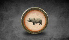 Rhinoceros  Handmade Vintage Bronze Dresser knobs door jade4wood