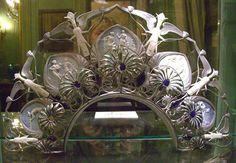 Art Nouveau Diadem, 1899, René Lalique,  Musée Lambinet, Versailles