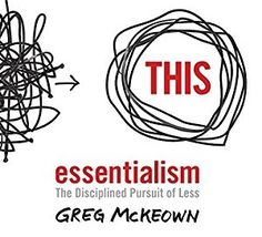 THC Book Club - Essentialism by Grey Mckeown Film Books, Audio Books, Beverly Hills High School, Good Books, My Books, Books For Self Improvement, Non Fiction, Information Overload, Self Help