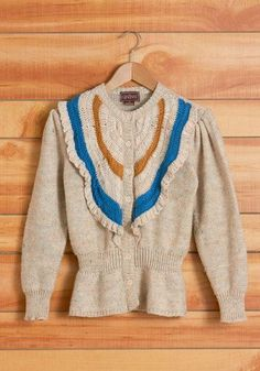 Vintage Debut Photo Album Cardigan, #ModCloth