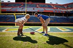 football engagement picture ideas -so doing this! When Bo first asked me out it was at a Satanta Indian football game! Who knew  we'd be high school sweethearts for life!