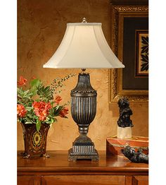 Wildwood Lamps Fluted Urn Table Lamp in Hand Colored Faux Bronze 1151 #lighting