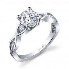 Platinum Diamond Engagement Ring - SY893