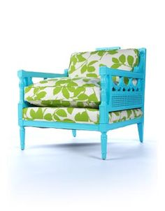 the Happy Chair--The colors make me smile!