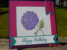 CC/SC ~ Birthday Hydrangea by Redbugdriver - Cards and Paper Crafts at Splitcoaststampers