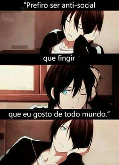Será uma indireta-direta para algumas pessoas?? Não sei. Talvez. Sad Anime, Kawaii Anime, Antisocial, Giving Up On Life, Otaku Meme, Noragami, Anime Comics, Cartoon Drawings, Haha