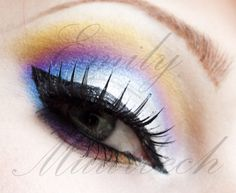 Sailor Moon inspired eye makeup