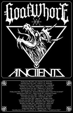 Long Live The Loud 666: GOATWHORE & ANCIIENTS TOUR 2017