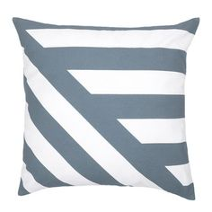 Deco Cushion Filled Slate | Temple & Webster