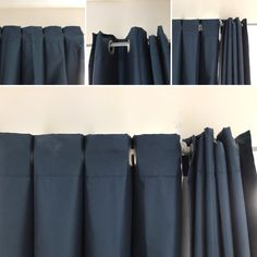 This super easy curtain pleat hack will transform how your curtains hang and look in any room in your house. Tab Top Curtains, Grommet Curtains, Hanging Curtains, Drapery, Valance, Living Room Decor Curtains, Bedroom Decor, Curtain Designs, Window Coverings
