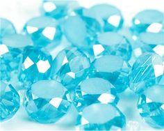 22pc Glass Faceted Buttons- Aqua #DIY #jewelry