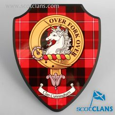 Cunningham Clan Crest and Tartan Plaque