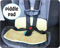 """DIY Piddle Pad for a car seat - """"With a recently potty trained toddler and lots of road trips this summer I decided to take some precautions"""