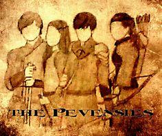 The Pevensies drawing.