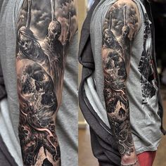 Tattoo Sleeve Ideas For Men Black And Grey Ink