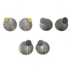 Collection of Linen Print Studs