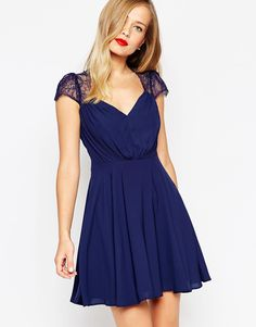 Image 1 - ASOS - Kate - Mini robe en dentelle