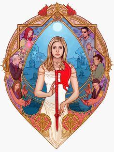 emblem shape version of my buffy pic. Buffy Tattoo, Fangirl, Joss Whedon, Buffy The Vampire Slayer, Supernatural, Pop Culture, Nerd, Anime, Sketches