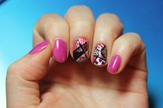 2/10/15- Valentine's patchwork nails. Polishes used: Forever 21 Love & Beauty's magenta, Essie's Licorice, Essie's Sand Tropez, Essie's Peach Daiquiri, Sinful Colors' Snow Me White, Sinful Colors' Dancing Nails, Julep's Rochelle, Julep's Sharna, Deborah Lippmann's Candy Shop, Confetti's Last Dance, New York Color's Manhattan, Sally Hansen's Golden-I, Wet n Wild's SaGreena the Teenage Witch.