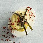 Wasabi-Ginger Deviled Eggs Recipe | MyRecipes.com