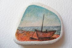 A boat on Hastings beach  Original miniature by Alienstoatdesigns, $19.00