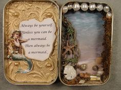 Mermaid Ocean Sea Message in a Bottle Altered Altoids by Apensons, $28.00