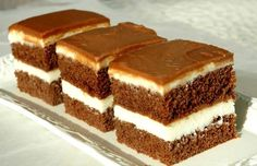 LoveAffair Cakes by mirela …: Milk Kocke / Milk Squares Cookie Desserts, Easy Desserts, Cookie Recipes, Dessert Recipes, Vegan Chocolate, Chocolate Desserts, Food Cakes, Cupcake Cakes, Romanian Desserts