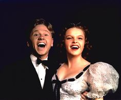 "Mickey Rooney and Judy Garland -  (Photo by Harold ""Doc"" Edgerton, 1939) they're so cute!!!!!!!!"