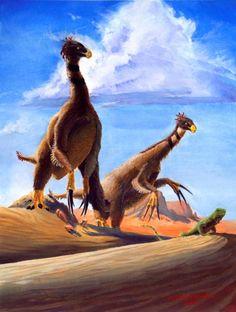 therizinosaurus    Therizinosaurus , late Cretaceous (70 mya), in its own unique family ...