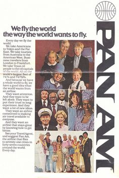 Vintage Pan Am Airlines Magazine Advertisement RARE Retro Advertising, Vintage Advertisements, Vintage Ads, Vintage Posters, Vintage Airline, Vintage Ephemera, Voyage Usa, Airline Travel, Travel Ads