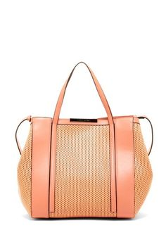 Charles Jourdan Bailey Laser Cutout Structured Handbag by Handbag Obsession on @HauteLook