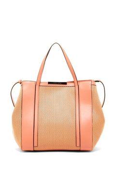 Charles Jourdan Bailey Laser Cutout Structured Handbag by Handbag Obsession on @HauteLook